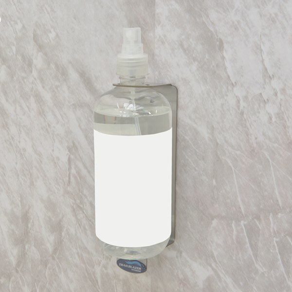 sanitiser bottle holder mount on wall