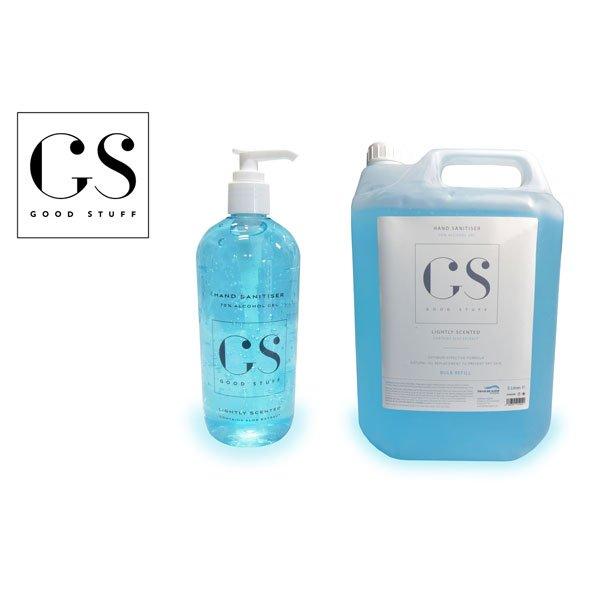 luxury sanitiser 500ml & 5l product shot